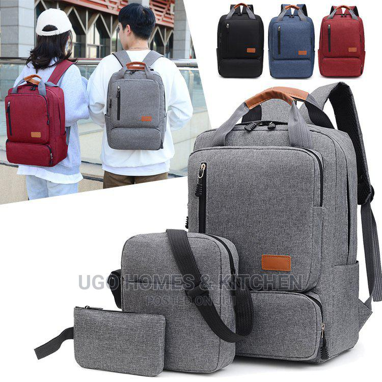 3 in 1 Smart Bag Laptop Bag Backpack With USB Port Unisex   Bags for sale in Ifako-Ijaiye, Lagos State, Nigeria