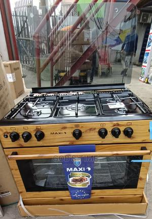 Maxi 60*90cm 5burner Standing Gas Cooker,Oven,Grill(Wooden) | Kitchen Appliances for sale in Lagos State, Ojo