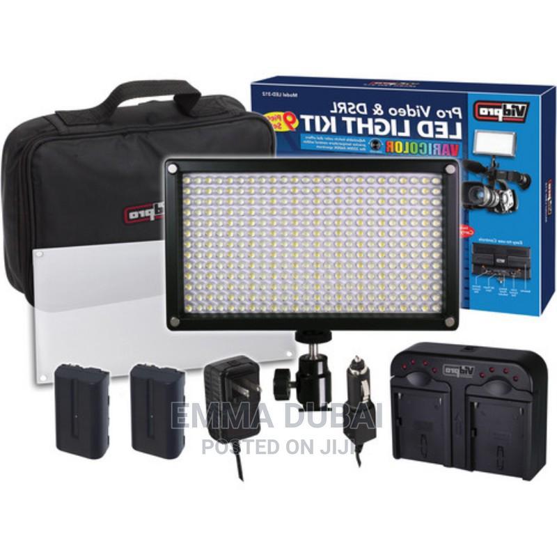 Professional Photo Video Led Light Kit Varicolor 600-Bulb