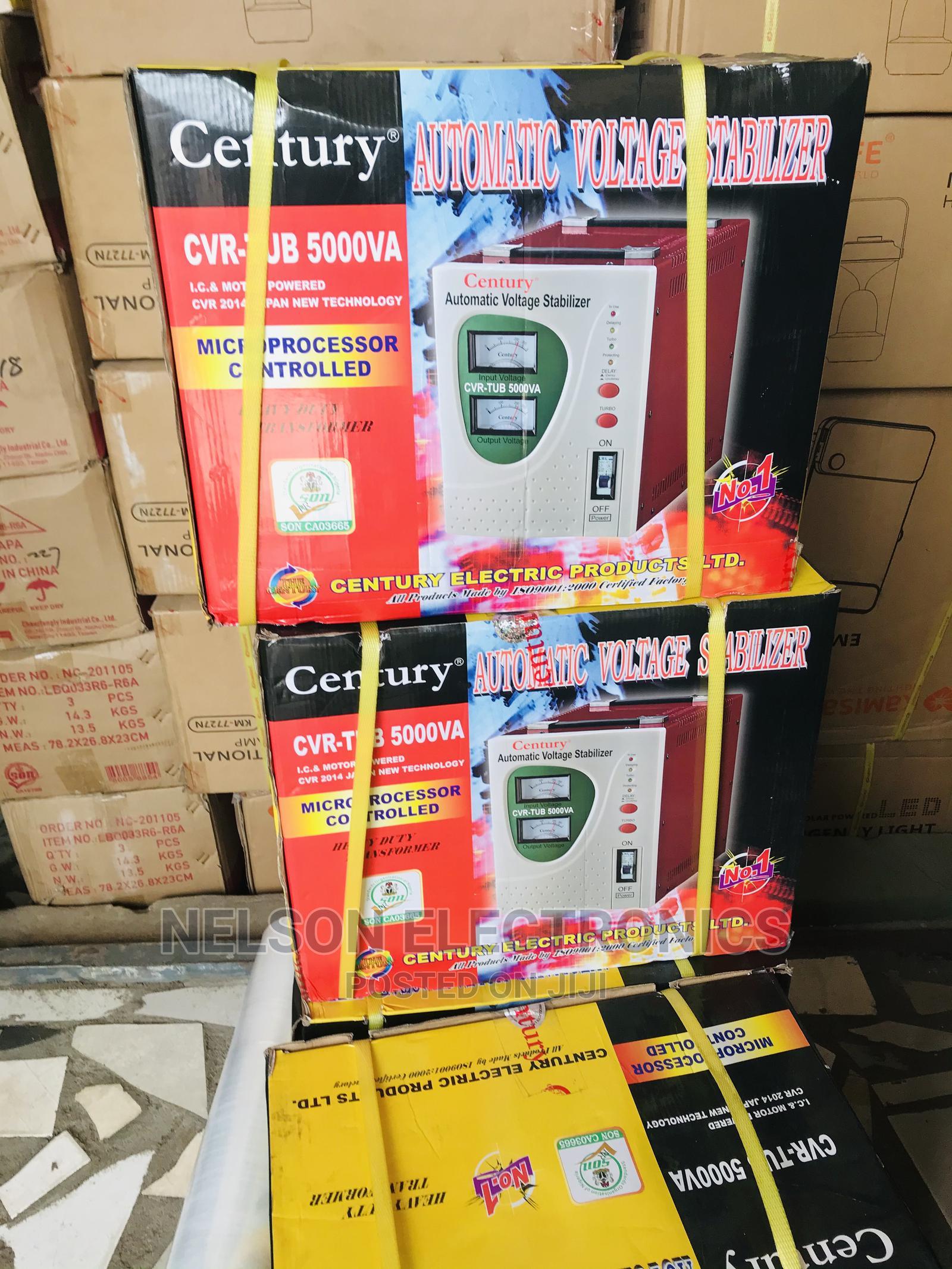 Century Automatic Voltage Stabilizer - 5000va/5000watt   Electrical Equipment for sale in Ikeja, Lagos State, Nigeria