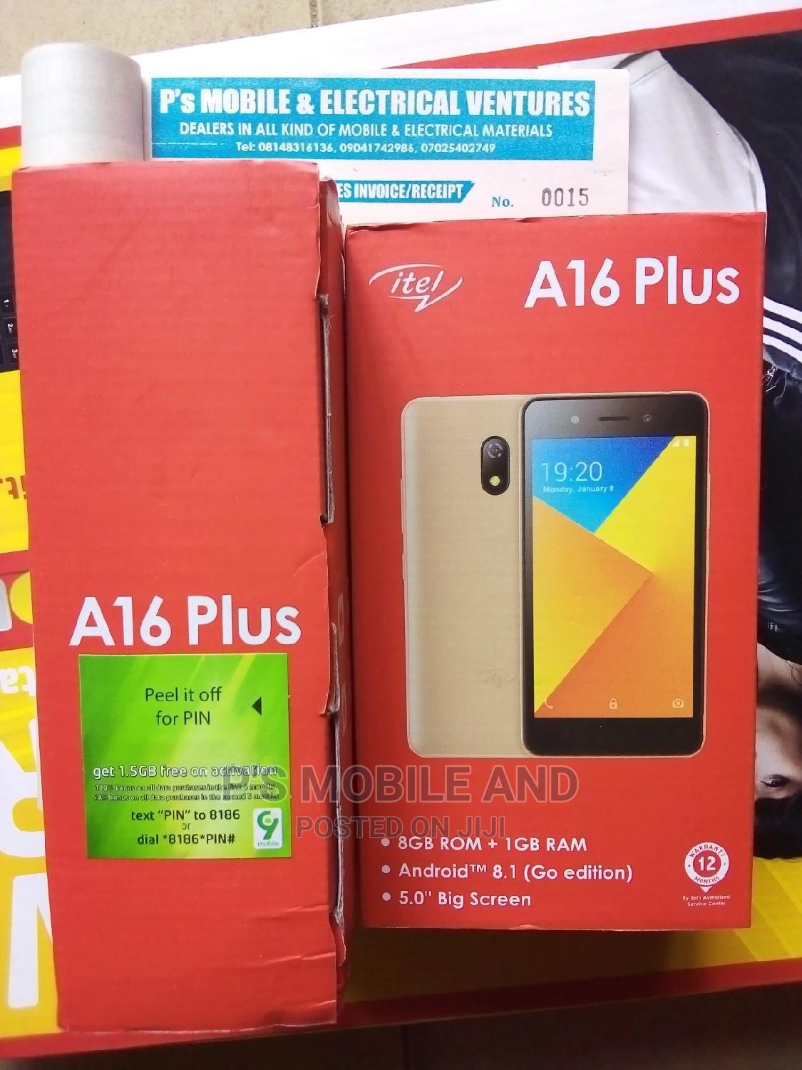 Archive: New Itel A16 Plus 8 GB Gold