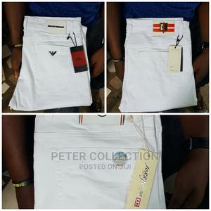 Classic White Jeans Trouser   Clothing for sale in Lagos State, Lagos Island (Eko)