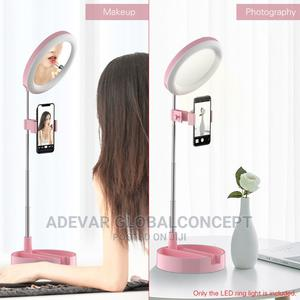 LED Ring Light Desk Lamp With Makeup Mirror Phone Holder   Accessories & Supplies for Electronics for sale in Lagos State, Ikeja