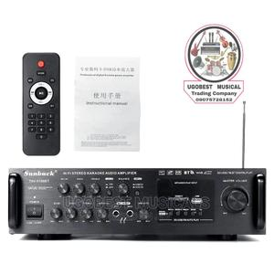 HI FI Stereo Karaoke Audio Amplifier With Bluetooth, Fm, USB | Audio & Music Equipment for sale in Lagos State, Mushin