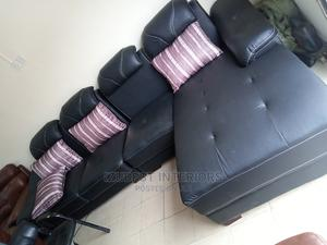 New Design L Shape Sofa Chair Good Leather   Furniture for sale in Lagos State, Ojo