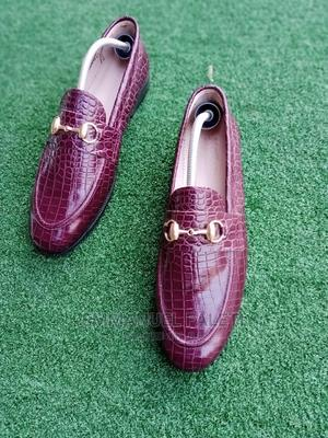 Brown Skin Loafers Witj Chain | Shoes for sale in Lagos State, Mushin