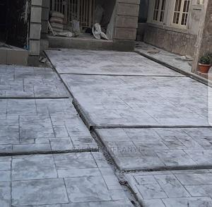 Stamp Concrete Floor Installation | Building & Trades Services for sale in Lagos State, Gbagada