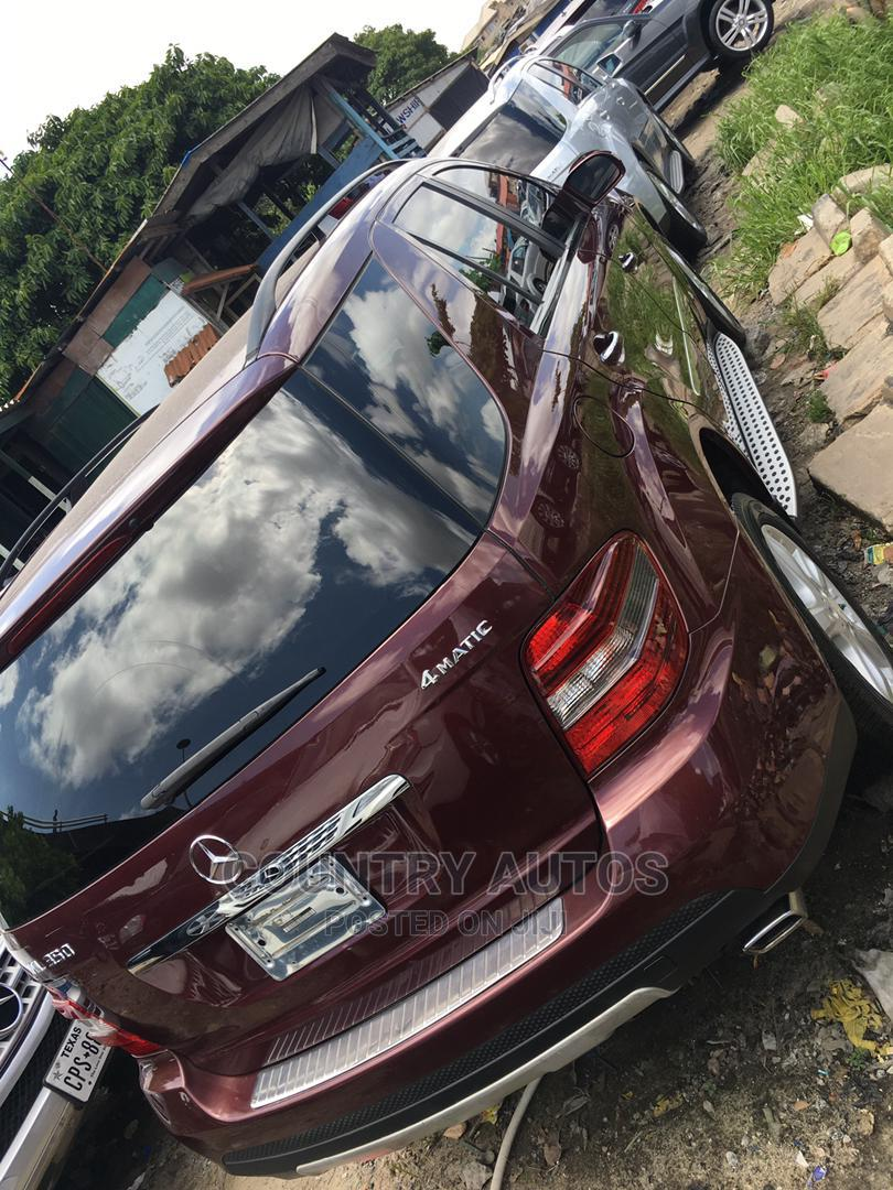 Mercedes-Benz M Class 2008 ML 350 4Matic Red | Cars for sale in Apapa, Lagos State, Nigeria