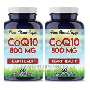 Pure Blend Supps Coq10 800mg Heart Health 60capsules | Vitamins & Supplements for sale in Enugu State, Enugu