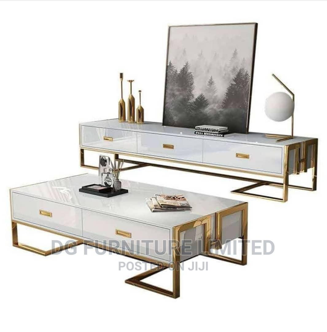 TV Stand With Center Table Luxury