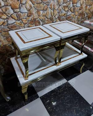 Marble Centre Table With 2 Stools   Furniture for sale in Lagos State, Ojo