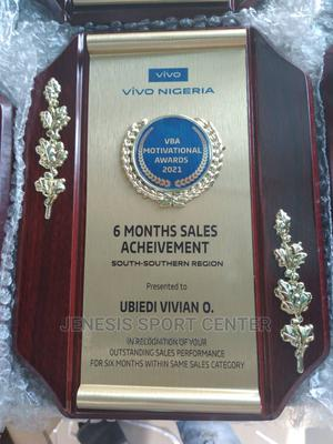 Wooden Plaque Award 01 With Printing   Sports Equipment for sale in Lagos State, Ikeja
