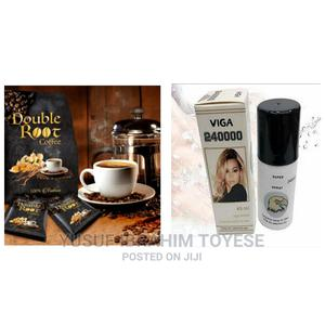 Double Root Enhancer Sex Drive Coffe Plus Viga Delay Spray | Sexual Wellness for sale in Oyo State, Ibadan