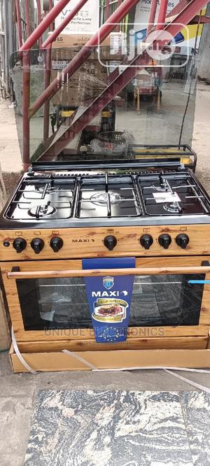 New Made Maxi Standing 5 Gas Burners Igintion +Oven 5 Years | Kitchen Appliances for sale in Lagos State, Ojo