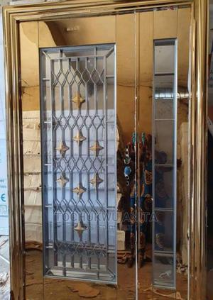 4ft Stainless Gold Glass   Doors for sale in Lagos State, Orile