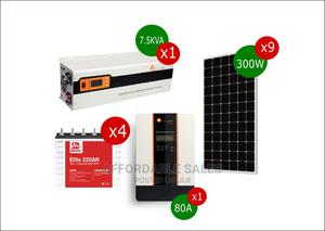 7.5kva, 80A Solar System ( +Free Battery Rack)   Solar Energy for sale in Edo State, Benin City