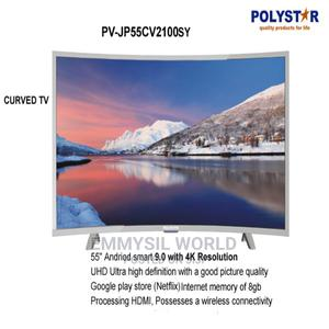 """Polystar 55""""Inch Curved Smart 4k UHD Tv 