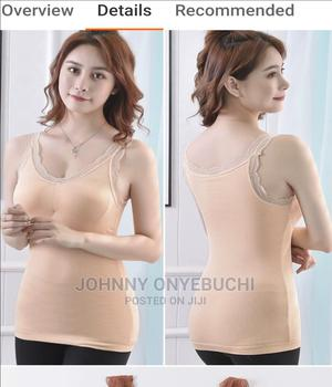 High Quality Women Camisole V-Neck Built in Bra Long Vest | Clothing for sale in Lagos State, Apapa