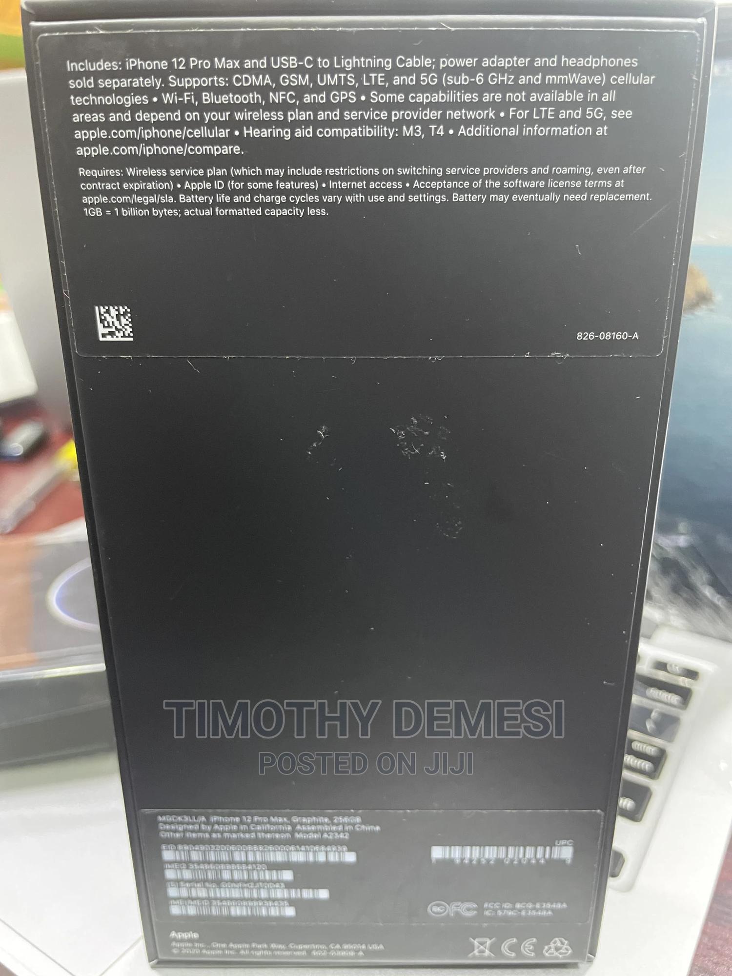 New Apple iPhone 12 Pro Max 128GB Black | Mobile Phones for sale in Warri, Delta State, Nigeria