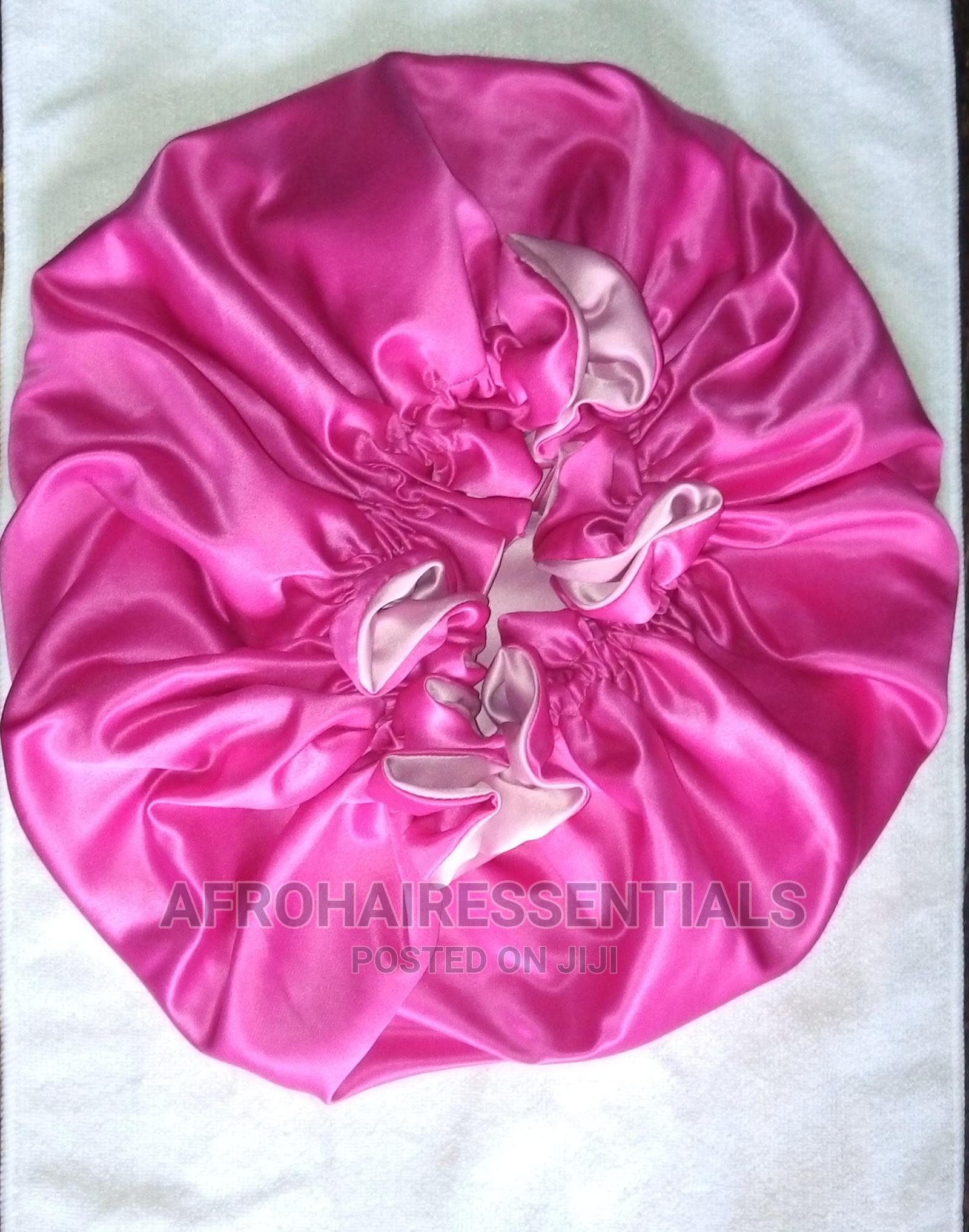 Archive: Large Size Satin Reversible Hair Bonnet