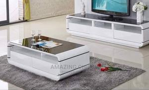TV Stand and Center Table White   Furniture for sale in Lagos State, Ikeja