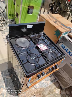 > Maxi Gas Stand 3 Gas 1 Electric Auto Ignition Bottom+Oven | Kitchen Appliances for sale in Lagos State, Ogba