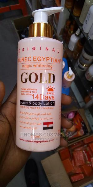 Purec Egyptian Magic Whitening Gold Lotion 300ml | Skin Care for sale in Lagos State, Kosofe