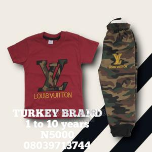 Kids Wine Colours Top With Camouflage Joggers Trouser   Children's Clothing for sale in Lagos State, Lekki