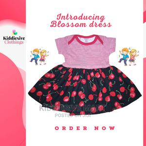 Girls Dress Made With Floral Print and Onesie Bodice | Children's Clothing for sale in Lagos State, Ipaja
