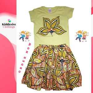 Girls Top and Ankara Skirt | Children's Clothing for sale in Lagos State, Ipaja