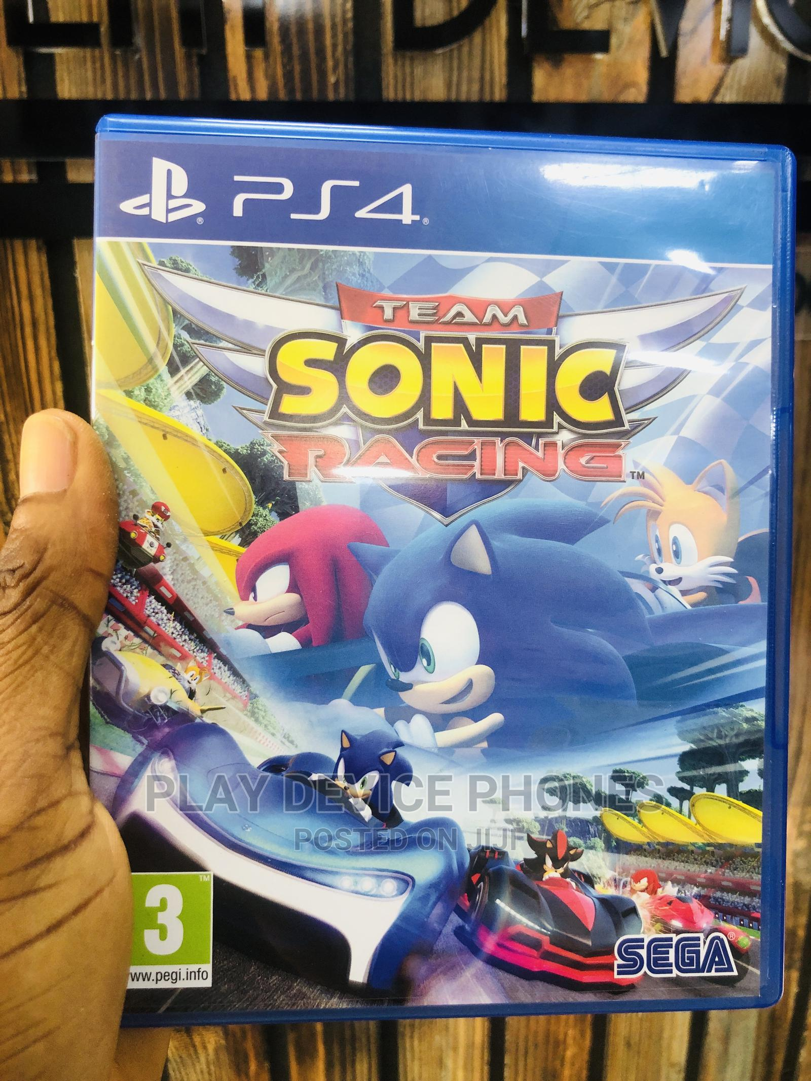 Sonic Racing Video Game for Ps 4