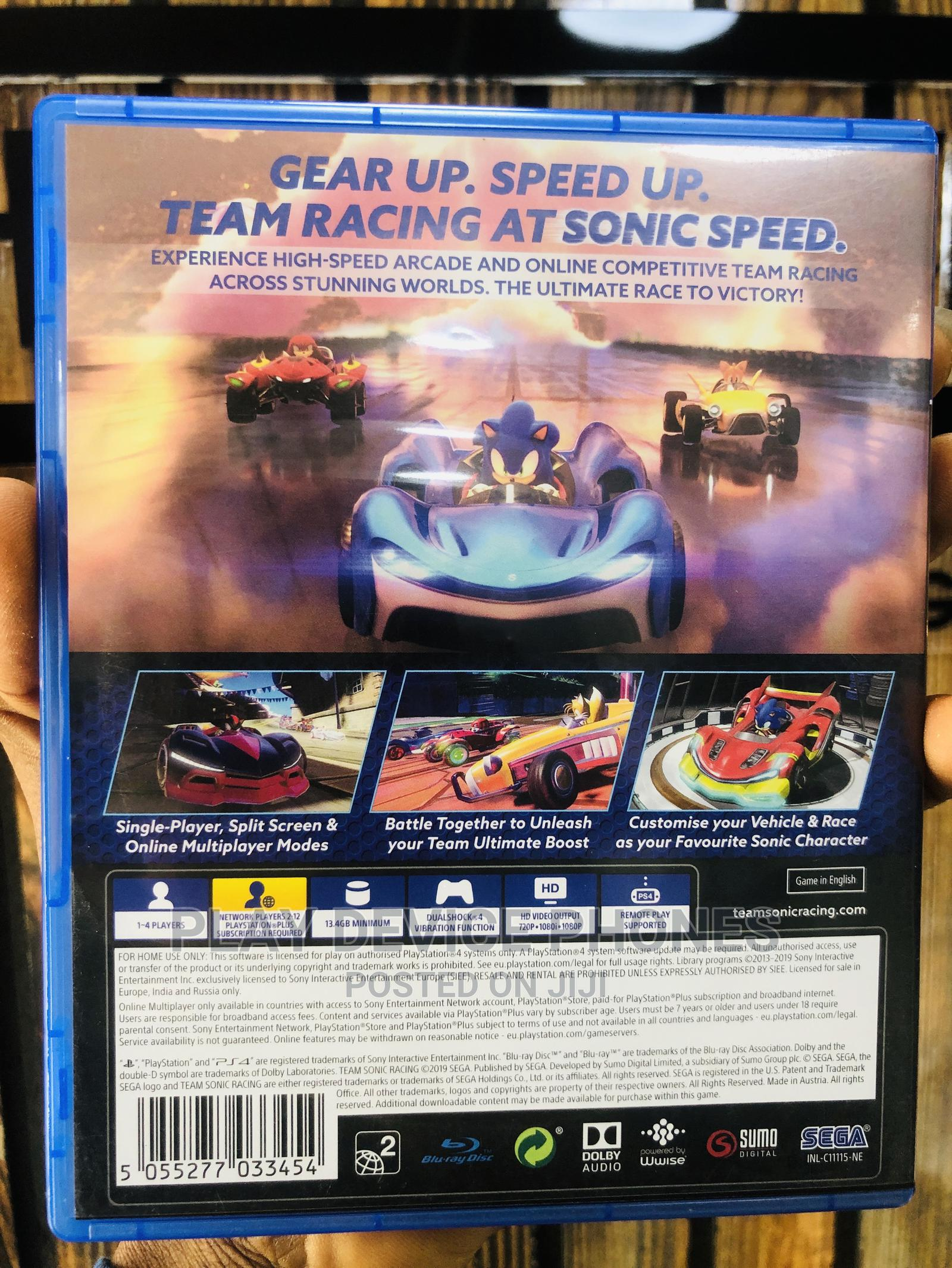 Sonic Racing Video Game for Ps 4 | Video Games for sale in Ikeja, Lagos State, Nigeria