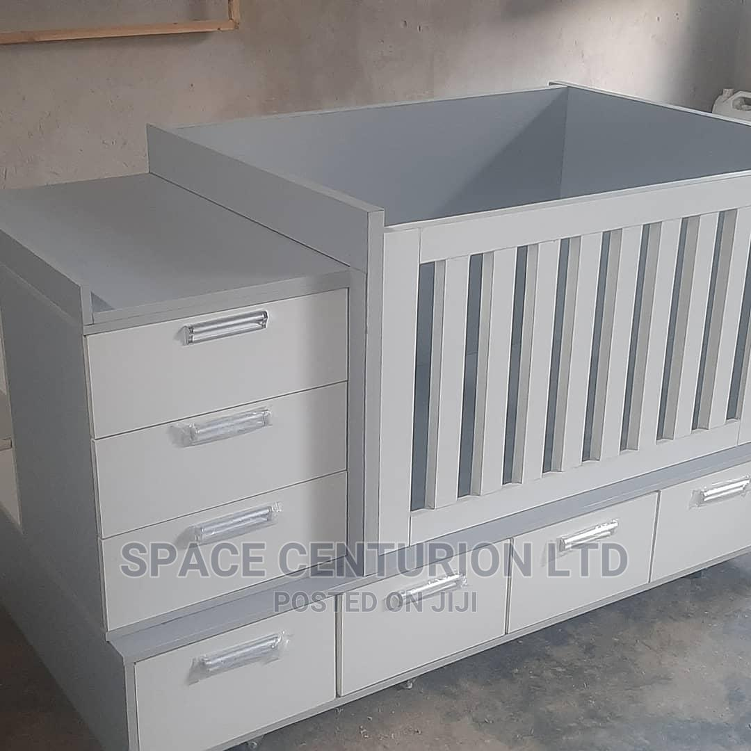 Baby Bed Frame With Multiple Storage Units