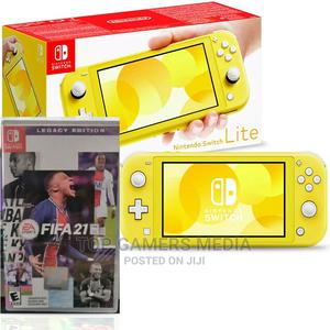 Nintendo Switch Lite - Yellow With Fifa 21   Video Game Consoles for sale in Lagos State, Agege