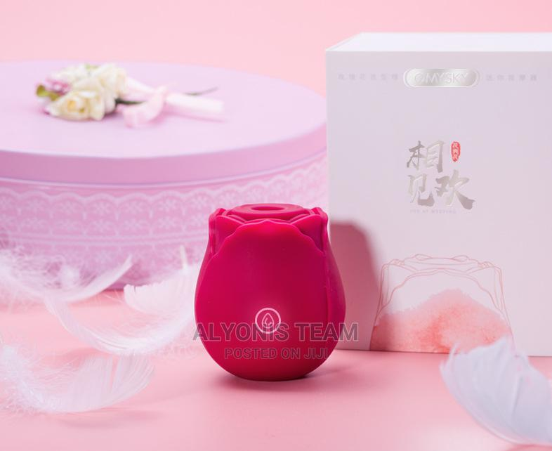Rechargeable Rose Clitoral Stimulator Suction Vibrator