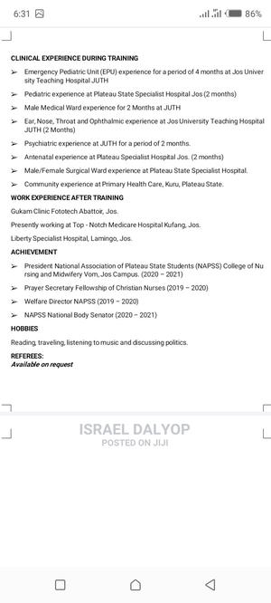 Healthcare Nursing CV | Healthcare & Nursing CVs for sale in Borno State, Maiduguri