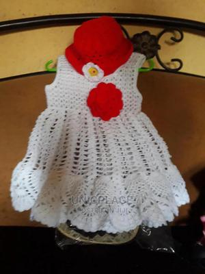 Baby Hand Knitted Gown With Head Wear | Children's Clothing for sale in Lagos State, Apapa