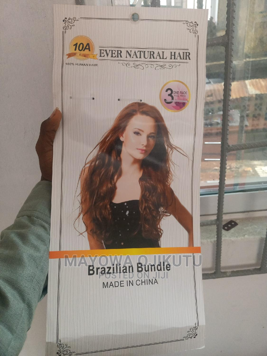 Brazilian Straight Wave 12inches Human Hair 3 Bundles In 1 | Hair Beauty for sale in Gbagada, Lagos State, Nigeria