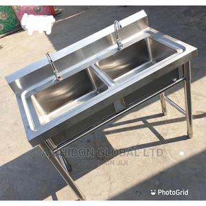 High Quality Double Industrial Sink | Restaurant & Catering Equipment for sale in Lagos State, Ikorodu