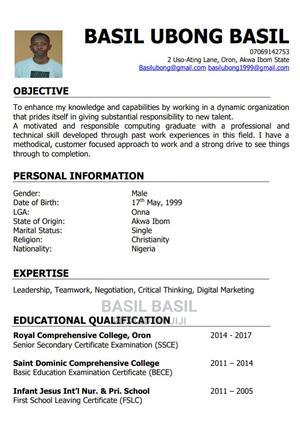 Computing | Computing & IT CVs for sale in Akwa Ibom State, Oron