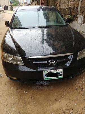 Hyundai Sonata 2008 2.4 Automatic Black | Cars for sale in Lagos State, Yaba
