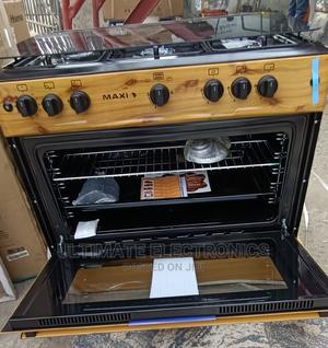 Maxi 60*90cm 5burner Wooden Color With Oven (Made in Turkey) | Kitchen Appliances for sale in Lagos State, Ojo