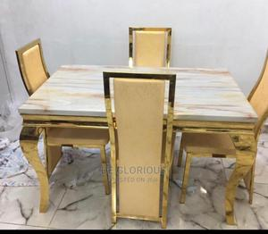 Marble Dinning Table by 4 With 4 Chairs | Furniture for sale in Abuja (FCT) State, Wuse