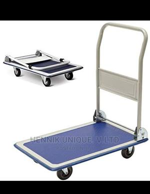 Heavy Duty Fold Flat Platform Trolley 150kg Max Warehouse | Store Equipment for sale in Lagos State, Ikeja