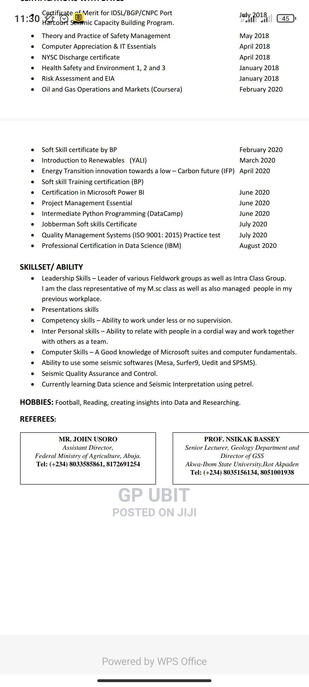 Teaching CV