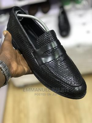 Black Basket Leather Penny Loafers | Shoes for sale in Lagos State, Mushin