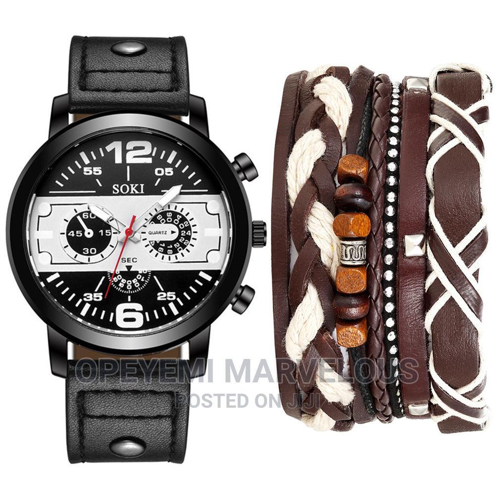 Men Wristwatch With Bracelet | Watches for sale in Ojota, Lagos State, Nigeria