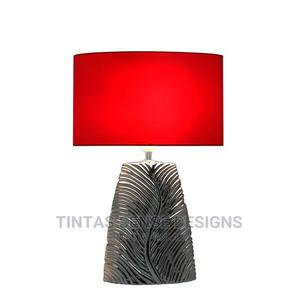 Chrome Ribbed Leaf Base Table Lamp With 13 Inch Shade   Home Accessories for sale in Lagos State, Lekki