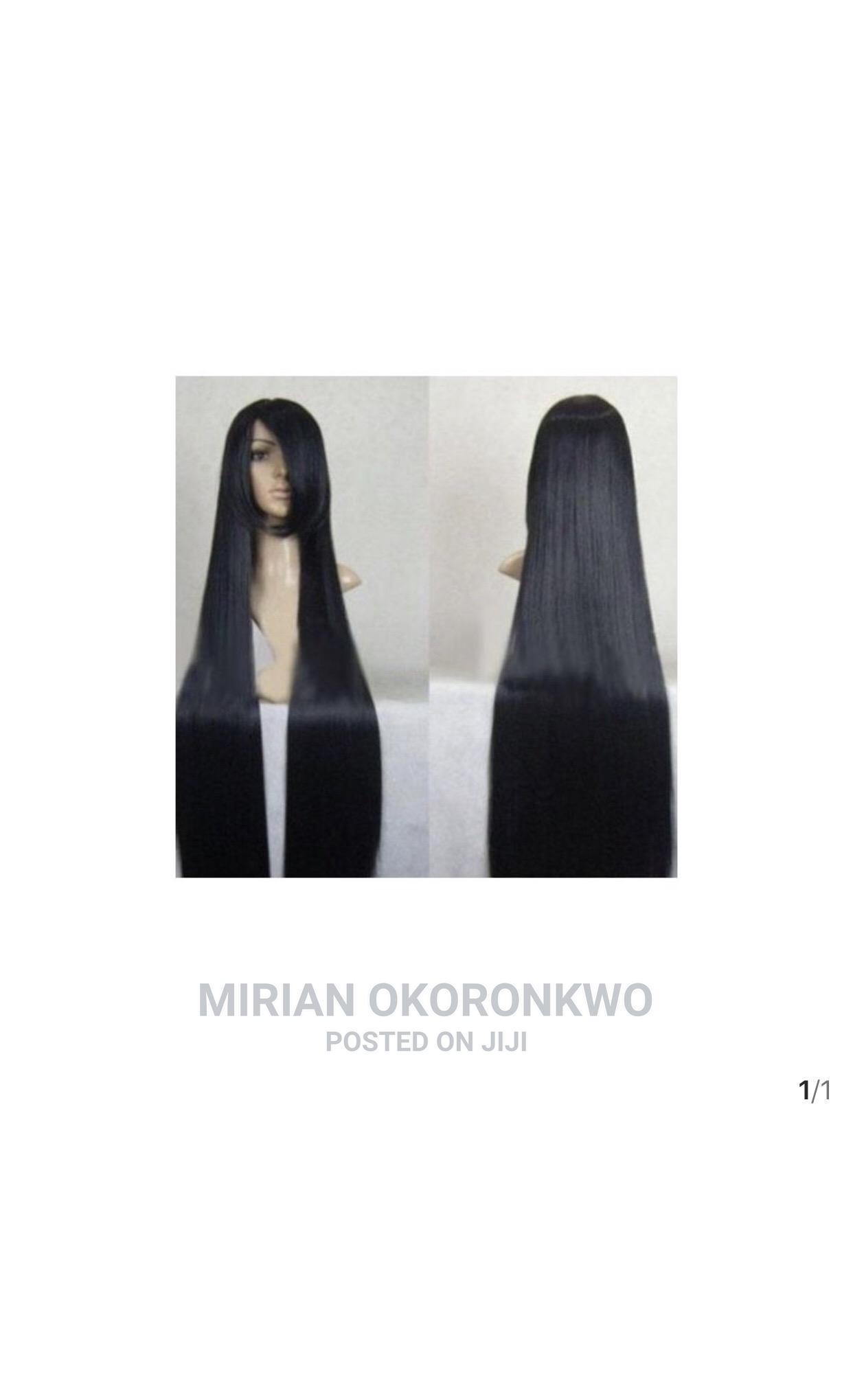 Archive: 100cm Long Straight Black Hair