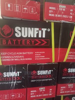 65ah/12v Sunfit Battery   Solar Energy for sale in Lagos State, Ojo